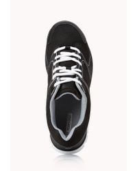 Forever 21 - Black Perforated Trainers - Lyst