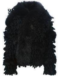 DIESEL - Black Textured Wool-Blend Jacket  - Lyst