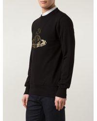 Vivienne Westwood - Black Orb Print Sweatshirt for Men - Lyst