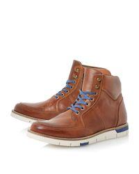 Bertie | Brown Cedric Wedge Sole Colour Pop Boots for Men | Lyst
