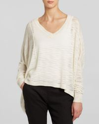 DKNY - White Pure Oversize Slub Knit Sweater - Lyst