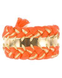 Aurelie Bidermann - Orange Double Copacabana Bracelet - Lyst
