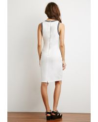 Forever 21 - Natural Varsity Stripe-trimmed Dress - Lyst