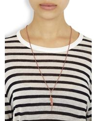 Vitaly - Pink Zanmi Rose Gold-plated Lightning Bolt Necklace - Lyst