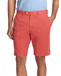 Saks Fifth Avenue - Red Sulfur Dyed Pima Cotton Shorts for Men - Lyst