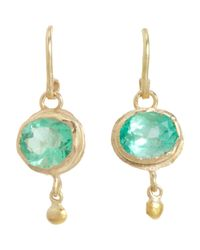 Judy Geib - Metallic Colombian Emerald & Gold Ball Drop Earrings - Lyst