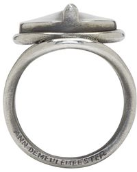 Ann Demeulemeester - Metallic Silver Sundial Ring for Men - Lyst