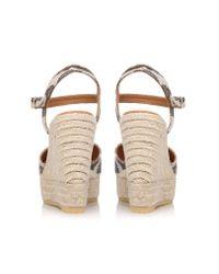 Kurt Geiger | Metallic Amerie High Wedge Heel Sandals | Lyst