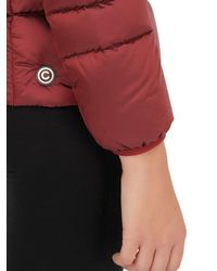 Colmar | Red Off Center Shiny Nylon Down Jacket | Lyst