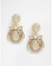 Coast | Metallic Neutral Jewel Earrings | Lyst
