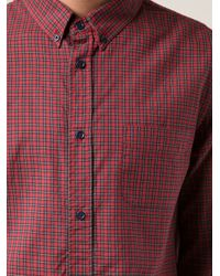 Band of Outsiders - Red Mini Tartan Shirt for Men - Lyst