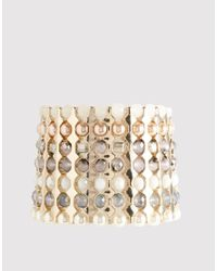 French Connection | White Tonal Bead Stretch Bracelet | Lyst