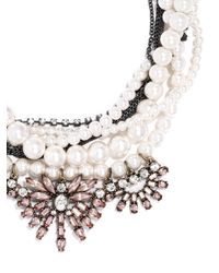 BaubleBar - White Pearl Bennet Bib - Lyst