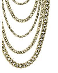 BaubleBar | Metallic Bowery Curb Chain Bib | Lyst