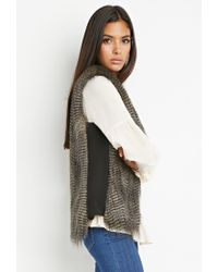 Forever 21 | Gray Side-paneled Faux Fur Vest | Lyst