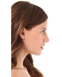 Petite Grand - Metallic Long Short Bead Earrings - Lyst