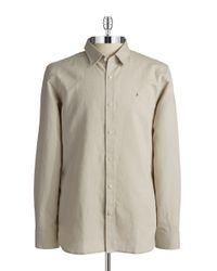 Victorinox - Gray Linen And Cotton Sportshirt for Men - Lyst