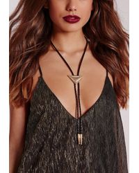 Missguided - Metallic Western Gold Multi Necklace Black - Lyst