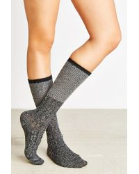 Urban Outfitters - Black Colorblock Two-for Knee High Sock - Lyst