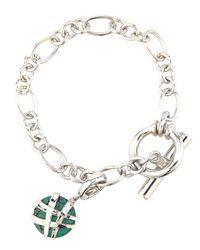 Slane - Blue Crescent Weave Turquoise Charm Bracelet - Lyst