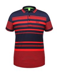BOSS Green | Blue 'paddy' | Modern Fit, Cotton Polo Shirt for Men | Lyst