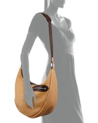 orYANY - Natural Emmy Pebbled Leather Hobo Bag - Lyst