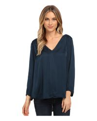 Velvet By Graham & Spencer | Blue Traze 3/4 Sleeve Top | Lyst