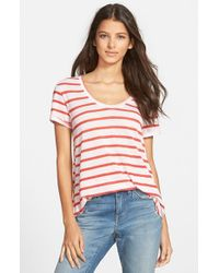 Stem - Red A-Line Tee - Lyst