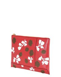 Marni - Red Floral Envelope Clutch - Lyst