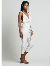 Free People | Natural Jasmine Twisted One Piece | Lyst