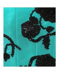 Oscar de la Renta | Blue Embellished Silk Dress | Lyst