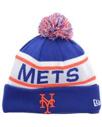 KTZ | Blue New York Mets Biggest Fan Pom Knit Hat for Men | Lyst