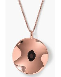 Ippolita | Pink 'rose Glamazon' Large Wavy Disc Pendant Necklace | Lyst