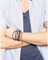 ASOS | Leather Bracelet Pack In Brown for Men | Lyst