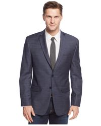 Calvin Klein - Big And Tall New Blue Checked Sport Coat for Men - Lyst