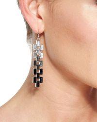 St. John | Black Ombre Baguette Crystal Earrings | Lyst