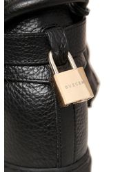 Buscemi - Black Alta Leather Wedge High Top Sneakers - Lyst