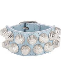 Balenciaga   Blue Arena 2 Row Giant Bracelet   Lyst