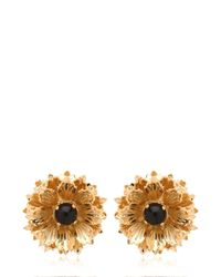Mercantia - Metallic Lux Flower Earrings - Lyst