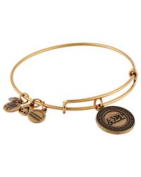 ALEX AND ANI | Metallic Alpha Sigma Tau Charm Bangle | Lyst