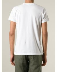 Aspesi   White 'Fluffy' Print T-Shirt for Men   Lyst