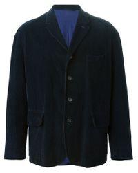 Romeo Gigli - Blue Velvet Corduroy Blazer for Men - Lyst