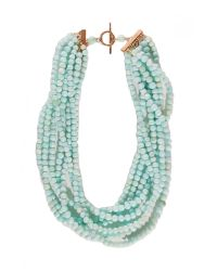 Theodosia - Peruvian Blue Opal Necklace - Lyst