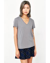 BDG | Gray Perfect V-neck Tee | Lyst
