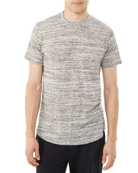 Alternative Apparel | Gray Journeyman Textured Tee for Men | Lyst
