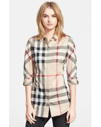 Burberry Brit - Multicolor Woven Check Shirt - Lyst