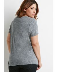 Forever 21 | Gray Plus Size Classic Heathered Tee | Lyst