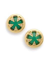 Melinda Maria - Green 'tessa' Turquoise Doublet Stud Earrings - Lyst