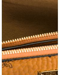 MCM - Natural Logo Print Zipped Shoulder Bag - Lyst