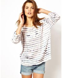 French Connection | Pink Oversize T-Shirt in Stripe | Lyst